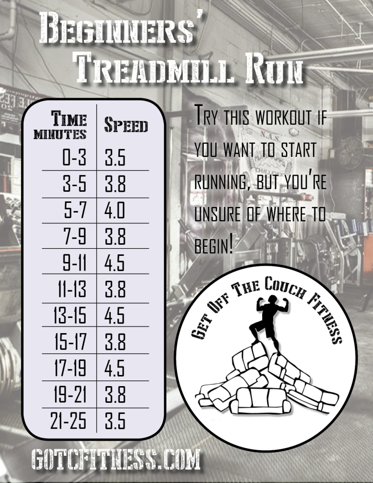 beginner's treadmill run